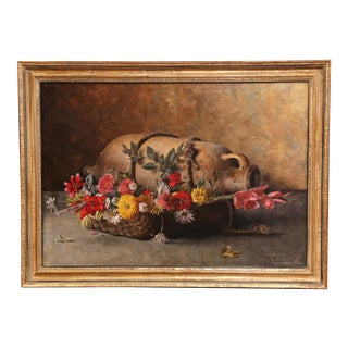 Early 20th Century Italian Framed Still Life Painting Signed G. Becciani For Sale