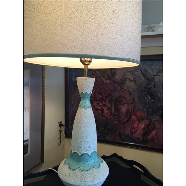 Mid Century Modern Lamp & Original Shade - Image 7 of 9