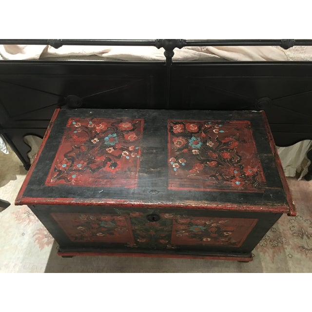 19th Century Painted Pine Chest For Sale - Image 5 of 9