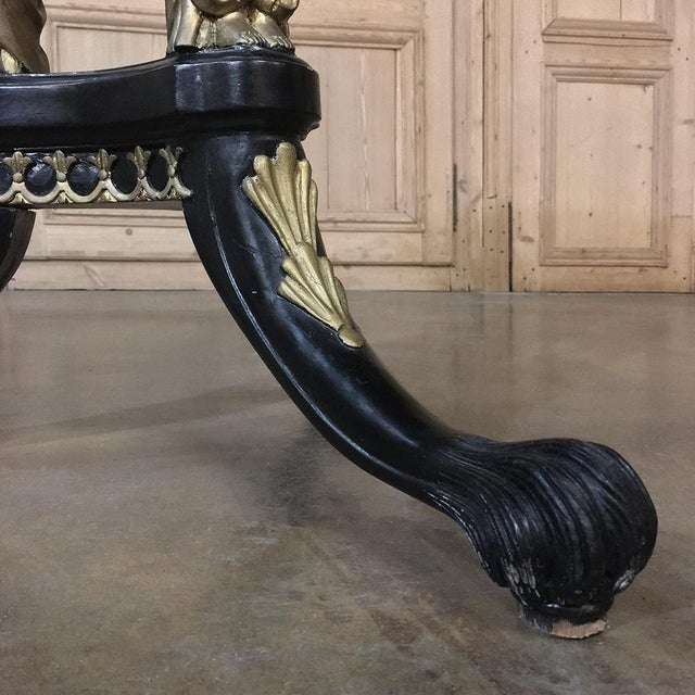 Mid 19th Century 19th Century Second Empire Caryatid Center Table For Sale - Image 5 of 12