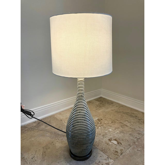 Visual Comfort Visual Comfort Ceramic Table Lamp With Shade For Sale - Image 4 of 6