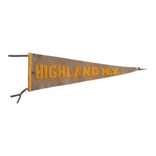 Antique Highland Ny Felt Flag For Sale