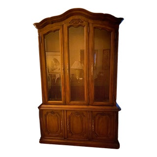 1970's Vintage Drexel French Provincial Hutch For Sale