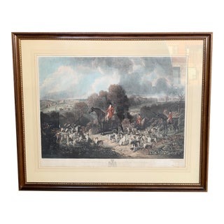 """Late 19th Century """"Lord Glammis and Stag Hounds"""" English Hunt Scene Engraving, Framed For Sale"""