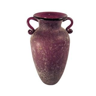 1970s Mid-Century Modern Amphora Hand Blown Glass Vase