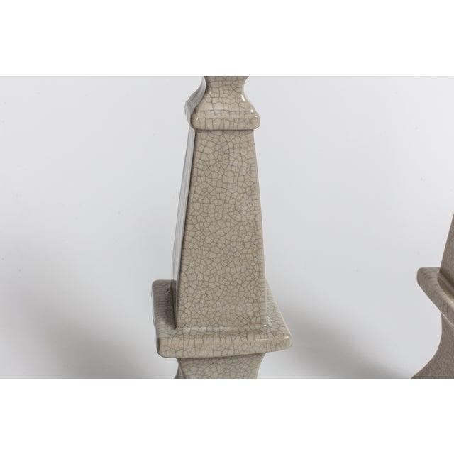 Ceramic Obelisks - A Pair - Image 4 of 4