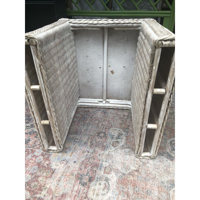Vintage Wicker End Tables - a Pair For Sale - Image 10 of 11
