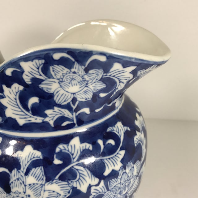 Chinoiserie Blue and White Pitcher - Image 5 of 11