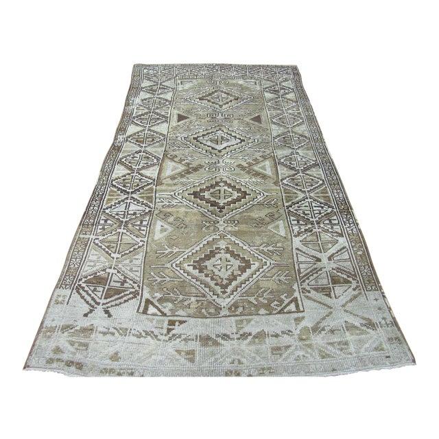"1960's Vintage Handmade Wool Turkish Anatolian Area Rug-4'10'x10'3"" For Sale"