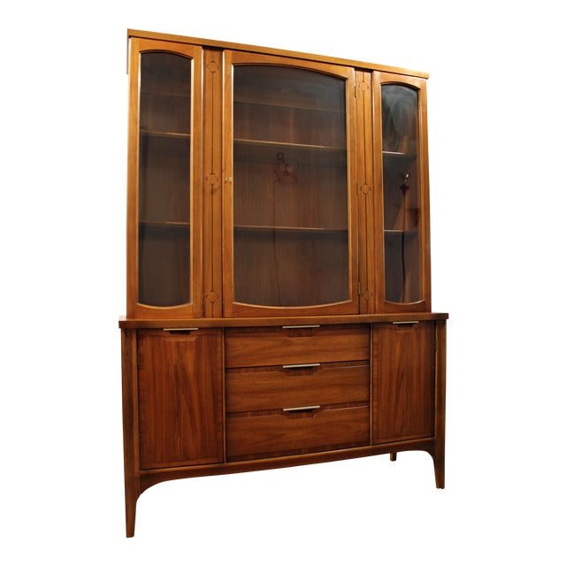 Mid-Century Danish Modern American of Martinsville Walnut China Cabinet #2 - Image 1 of 11