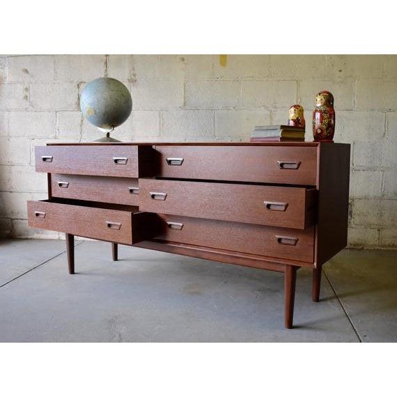 Mid Century Modern Teak Double Dresser For Sale - Image 4 of 8