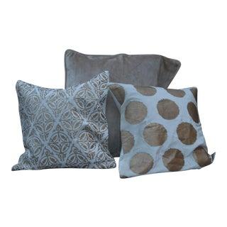 Silk Velvet Pillows - Set of 3