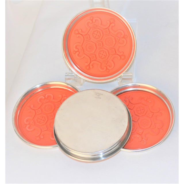 Rare 1960's Gorham Silver Spanish Tracery Drink Coasters - set of 4 For Sale In Dallas - Image 6 of 12