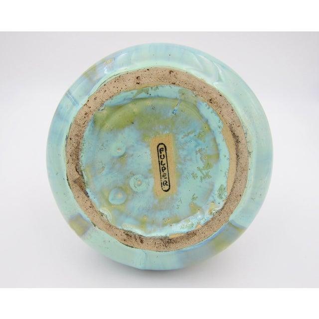 Vintage Fulper Pottery Arts & Crafts Double Handled Vase With Flambé Glaze For Sale - Image 10 of 11
