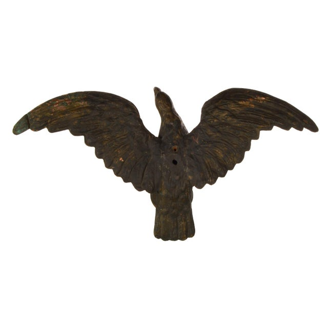 Flying Eagle Antique Copper Weathervane For Sale In Dallas - Image 6 of 13