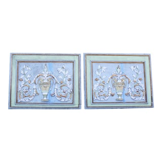 Late 18th Century Swedish Neoclassic Gustavian Wall Panels- A Pair For Sale