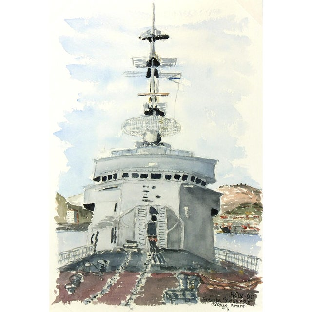 Watercolor Painting, Anti-Aircraft Frigate - Image 1 of 4
