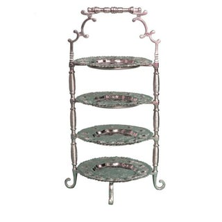 Moroccan 4-Tier Silver Tray Preview