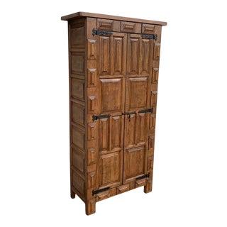 18th Century Cupboard or Cabinet, Walnut, Castillian Influence, Spain Restored For Sale