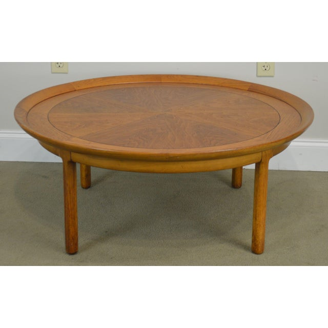 High Quality American Made Vintage Mid Century Modern Round Coffee Table Labeled Sophisticate by Tomlinson