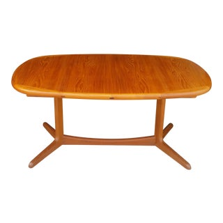 Mid-Century Danish Solid Teak Dining Table For Sale