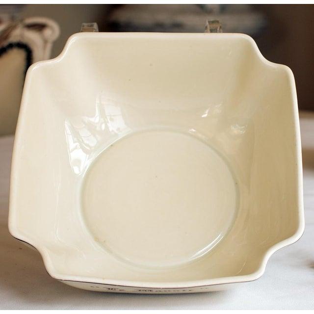 """Vintage French """"Le Manoir"""" Porcelain Serving Bowl - Image 4 of 5"""