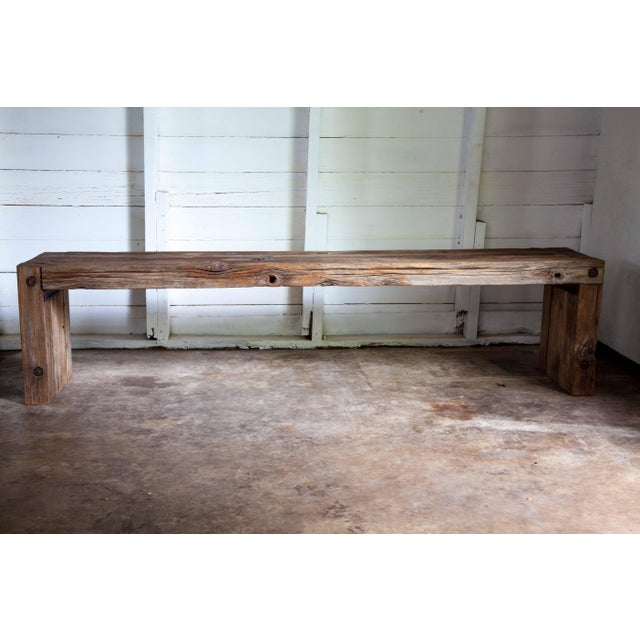 Hand-built in the US of salvaged, vintage Western Red Cedar beams bound with bolted rods for timeless durability and...