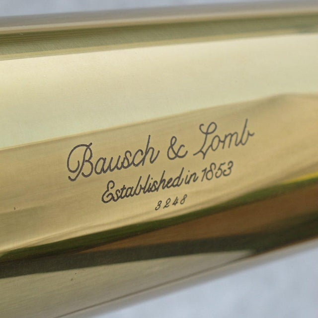 20th Century English Traditional Baush & Lomb Brass Telescope For Sale - Image 10 of 11