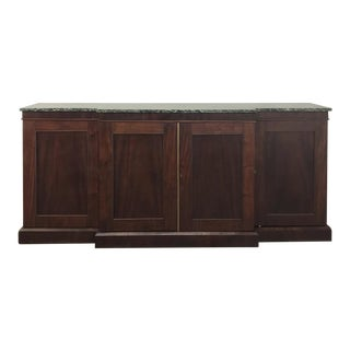 19th Century French Mahogany Marble Top Buffet For Sale