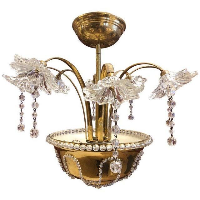 Italian Murano Glass Chandelier For Sale In New York - Image 6 of 6