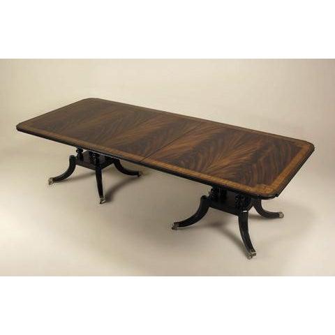 Maitland-Smith Regency Mahogany Double-Pedestal Table - Image 2 of 3