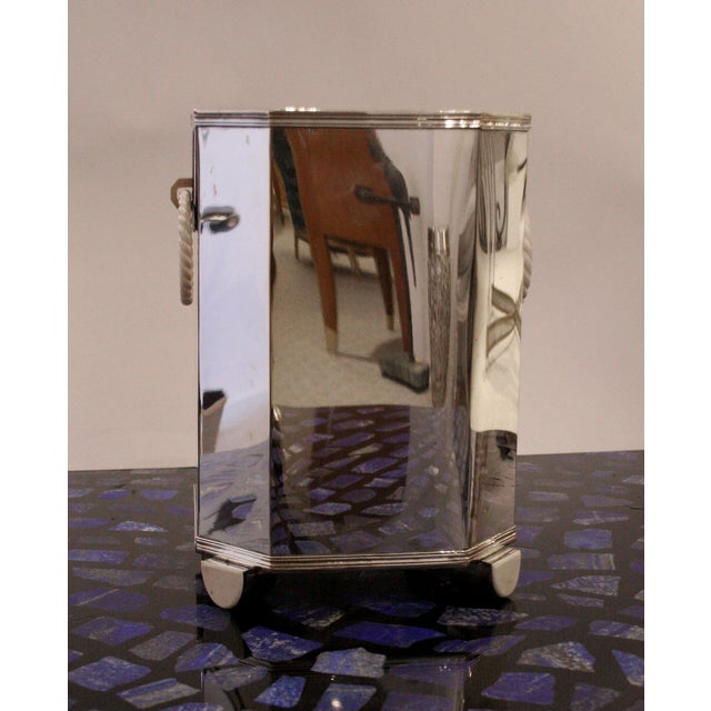 1920s Pair Of French Art Deco (C. 1920's) Sterling Silver Wine Coolers For Sale - Image 5 of 8
