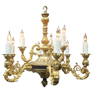 1840s Louis Philippe Style French Gasolier For Sale