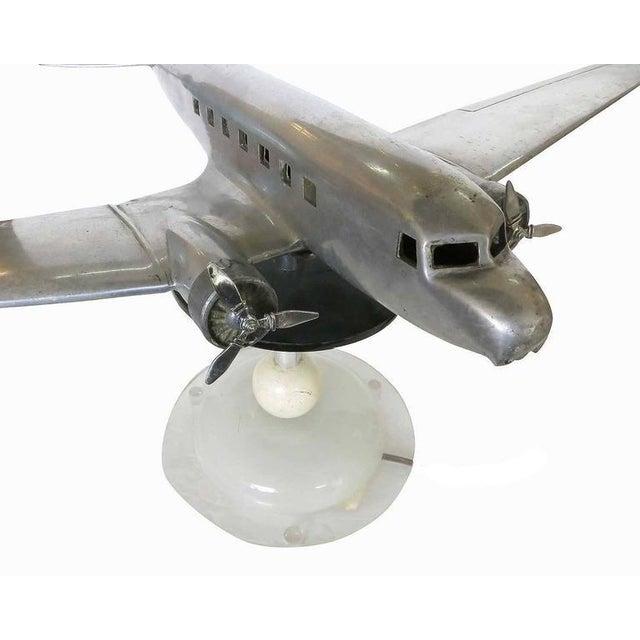 Douglas DC-2 Airplane Aluminum Model Lamp, circa 1934 - Image 5 of 10