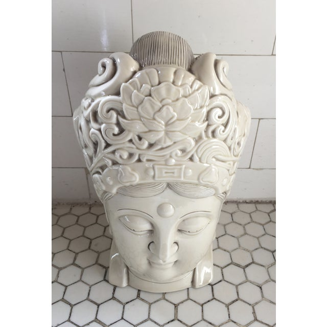 Chinese Blanc De Chine Quan Yin Goddess Head - Image 4 of 11