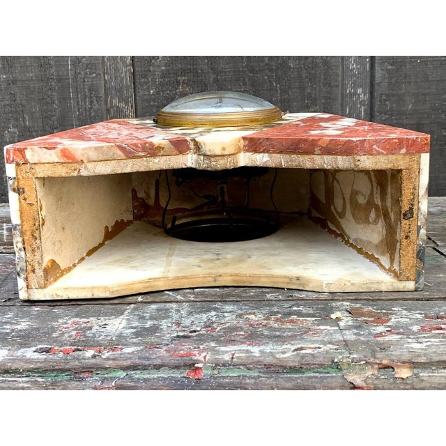 French Art Deco Marble Mantle Clock For Sale - Image 11 of 12