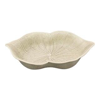 Valley Vista Ceramics Embossed Leaf Trinket Bowl For Sale