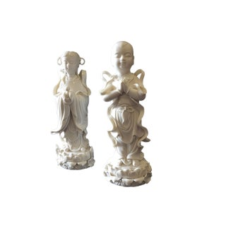 Blanc De Chine Porcelain Deities For Sale