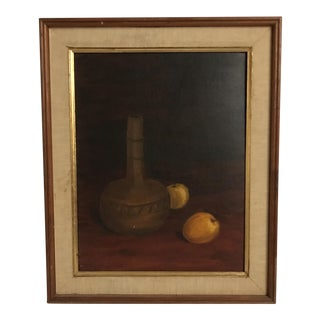 Still Life Oil Painting on Canvas For Sale