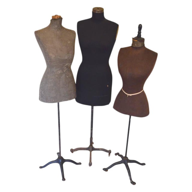 Mid-Century Adjustable Seamstress Dress Forms - Set of 3 - Image 1 of 10