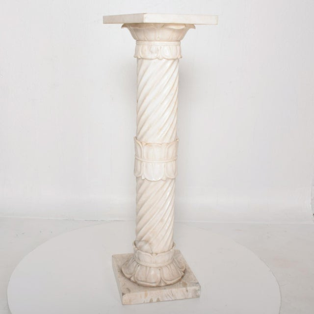 Antique Italian Pedestal Marble Table For Sale In San Diego - Image 6 of 11