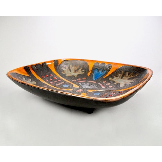 Abstract Rogier Vandewegh for Perignem Footed Platter For Sale - Image 3 of 8