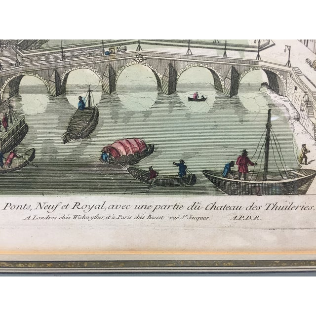 Le Pont Neuf Et Royal Engraving For Sale - Image 4 of 5