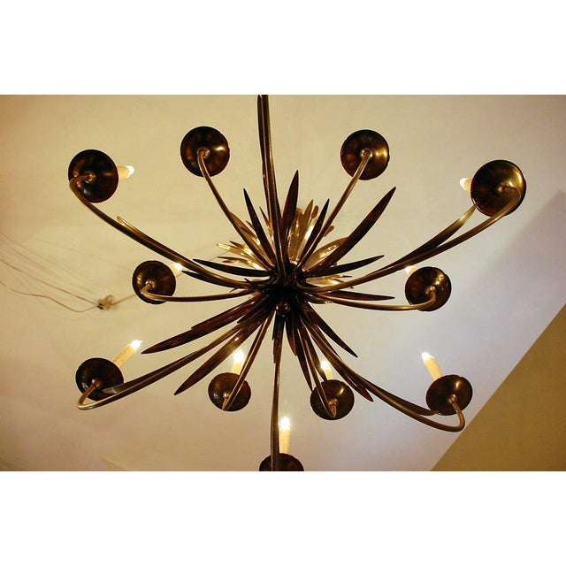 1960s Maison Charles Large French Chandelier For Sale In Los Angeles - Image 6 of 9