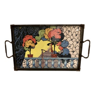 1930s Litho Printed Art Deco Tray For Sale