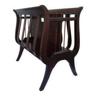 Ferguson Brothers Lyre Shaped Magazine Rack For Sale