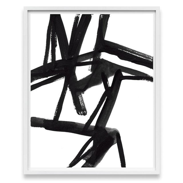 """Large Black and White Abstract Modern Art - """"Shadows #2"""" Unframed Giclée Print For Sale - Image 4 of 5"""