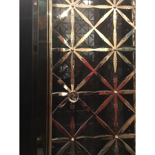 2010s Caracole Modern Black and Gold Display Cabinet For Sale - Image 5 of 10