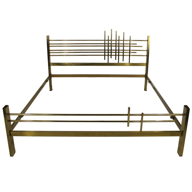 An Italian 60's Modernist Double Bed For Sale - Image 4 of 4