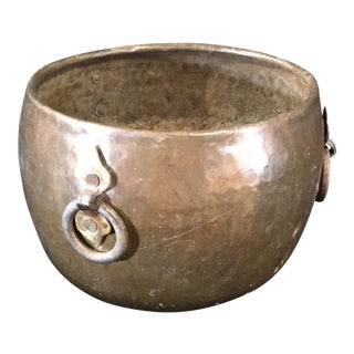 Hammered Bronze Pot For Sale
